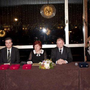 Mladen Janjanin, Višnja Mažuran, Joze Haluza i Alma Davčik Petošić